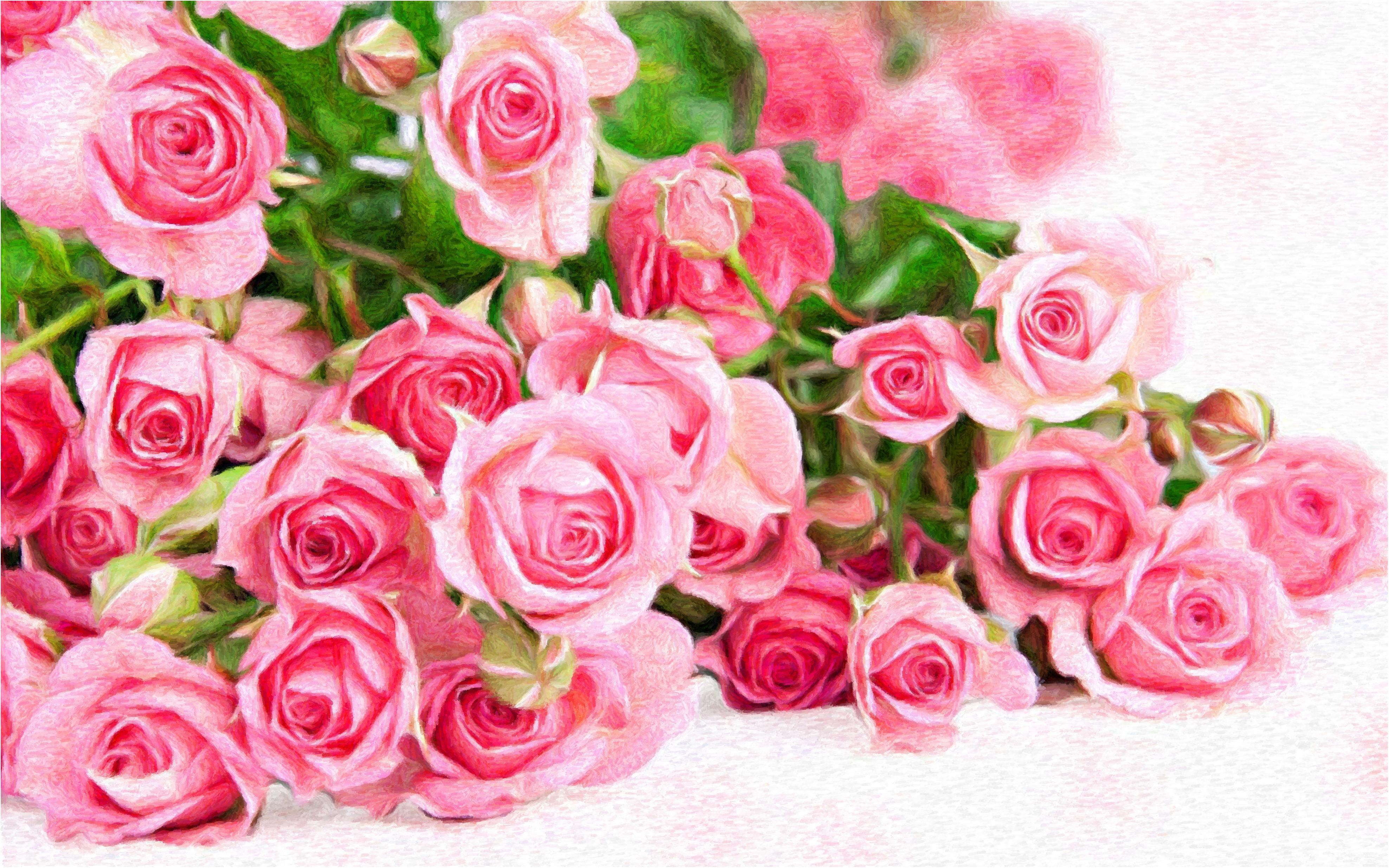 Картинки с днём рождения много роз