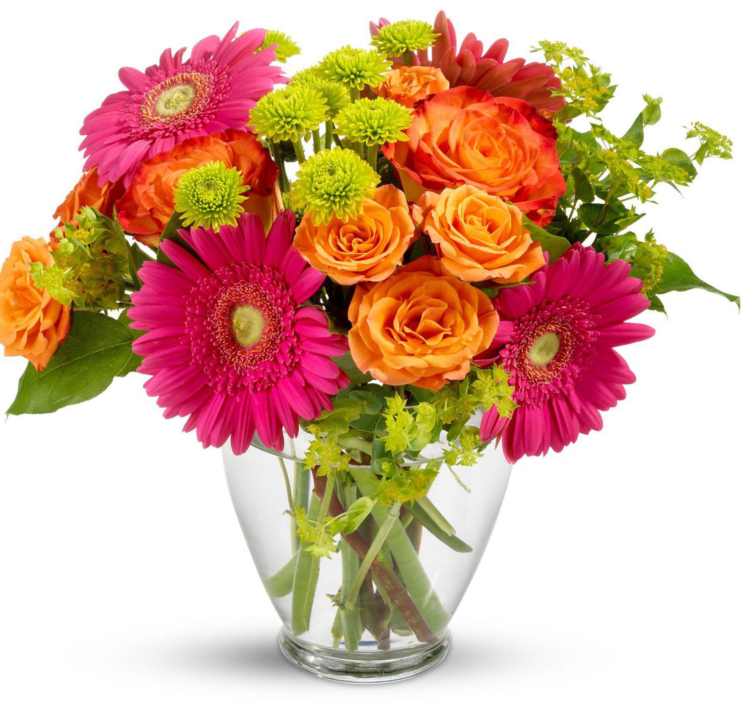 Открытка на цветы
